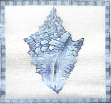 Conch Shell in Ocean Blue