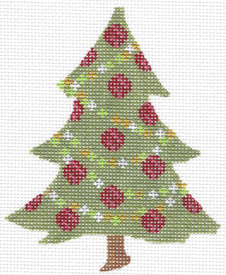 Red Rose & Garland Tree Stitch Guide