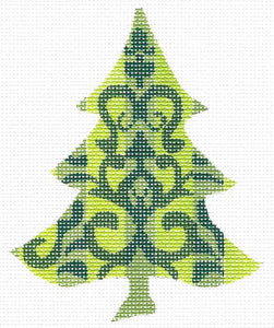 Chartreuse Damask Tree Stitch Guide
