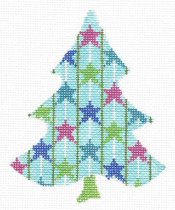 Twirly Wirly Stars Tree Stitch Guide