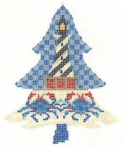 Coastal Lighthouse Tree Stitch Guide