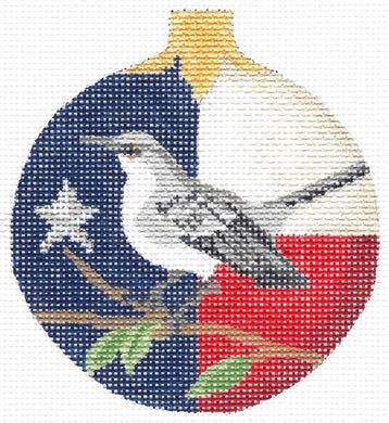 Lone Star Mockingbird Round Ornament