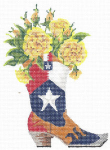 Yellow Rose O' Texas in a Boot