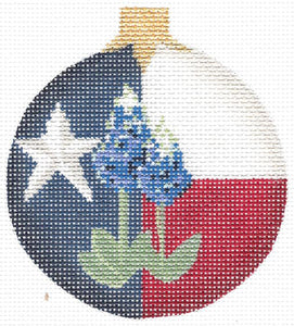 Texas Blue Bonnet Ball Ornament