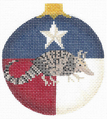 Texas Armadillo Ball Ornament