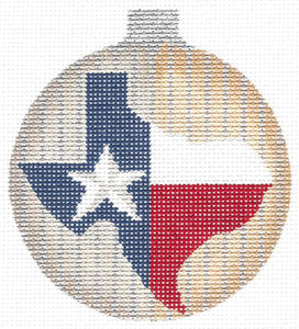 State O' Texas Ball Ornament
