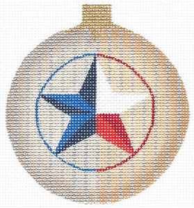 Texas Lone Star Ball Ornament