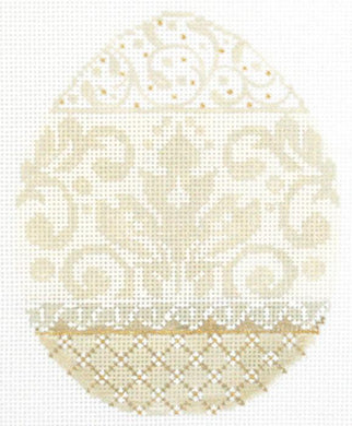 French Vanilla Damask Egg