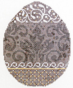 Chocolate Damask Egg