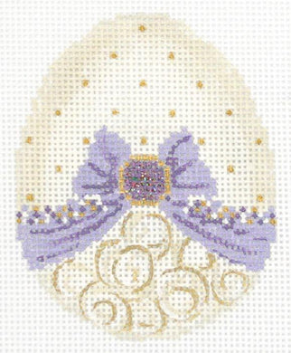 Vanilla & Lavender Ribbon Egg Embellishment Kit