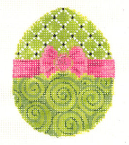 Chartreuse Ribbon Egg