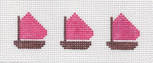 Hot Pink Sailboats Jewelry Box Insert