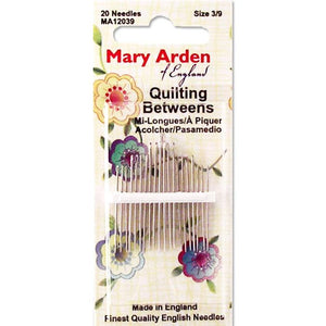 Colonial Needle 20 Count Mary Arden Between Quilting Needles Size 10