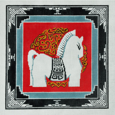 Horse With Border