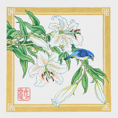 Lilies with Bird
