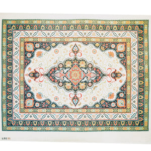 Persian Blue & Coral Rug