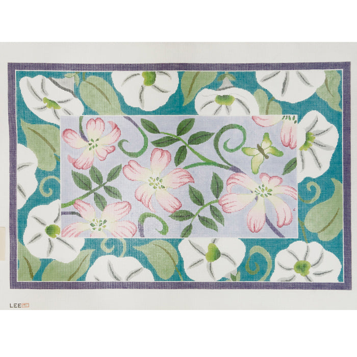 Pink & White Floral Rug