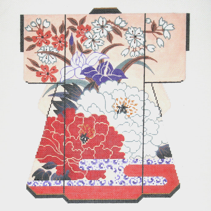 Floral with Cherry Blossoms Large Kimono