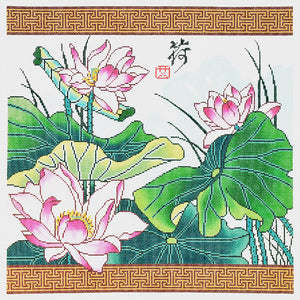Lotus with Border
