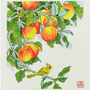 Yellow Bird with Peaches