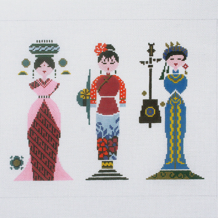 Row of Three Ladies