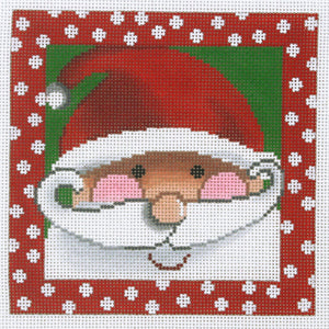 Santa with Rosy Cheeks - Dots