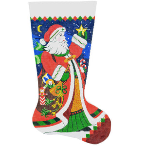 Santa Bugle Stocking
