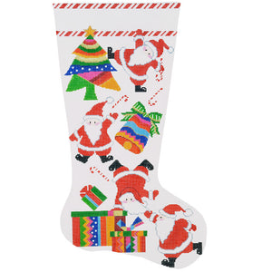 Tumbling Santas Stocking