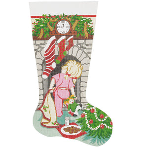 Where Is Santa? Girl Stocking