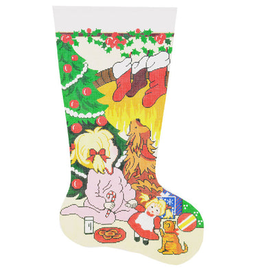 Looking For Santa Girl Stocking