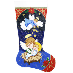 Angels & Manger Stocking