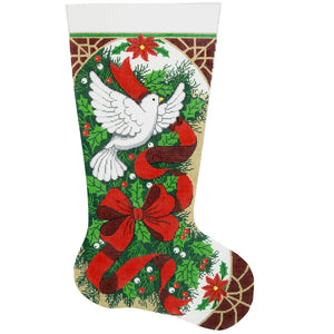 X-Mas Holly & Dove Stocking