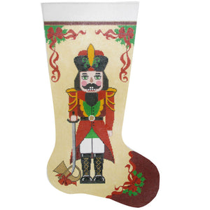 Nutcracker with French Horn Stocking