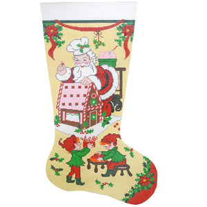 Gingerbread Santa Stocking
