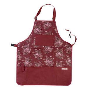 Garden Girl Apron long Classic Cherry