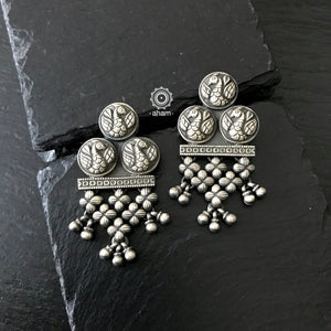 Silver Mewad earring.  An ode to the glorious heritage of Rajasthan