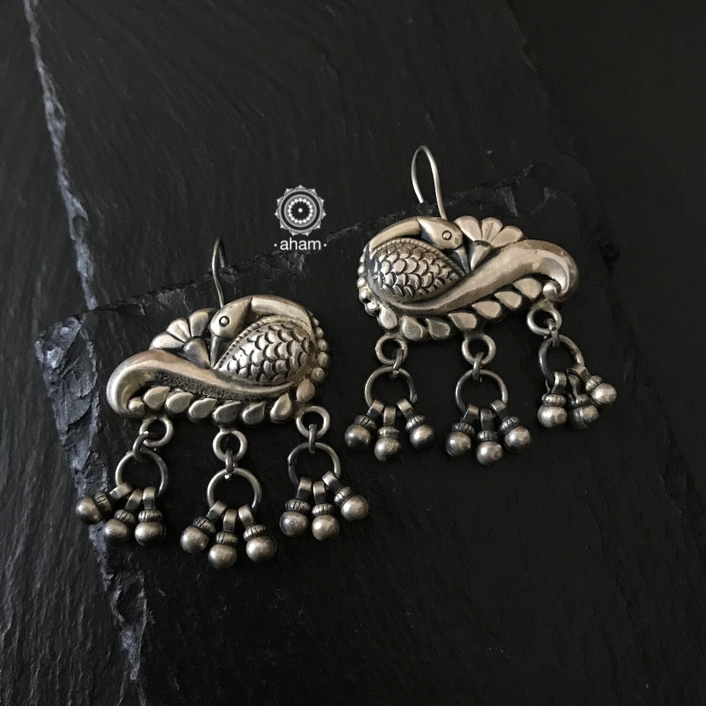Silver Mewad earring.  An ode to the glorious heritage of Rajasthan.