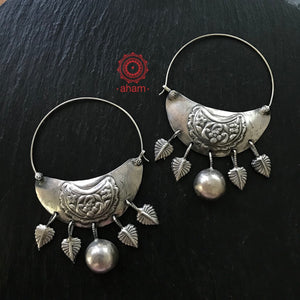Big Statement Silver Hoops