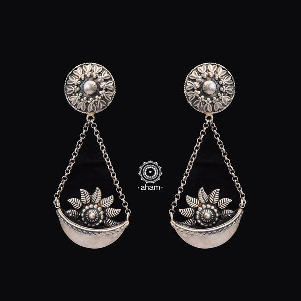 Mewad Silver Statement Earrings
