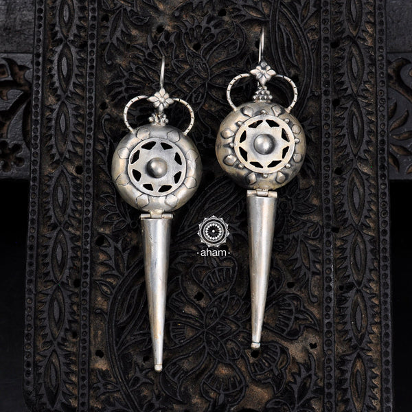 92.5 Sterling Silver Earring.  Long yet light weight.