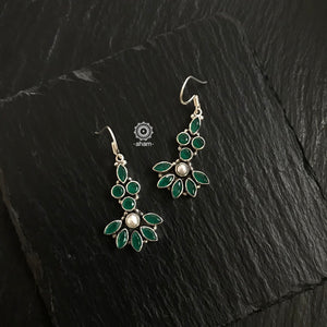 Green Silver Earring
