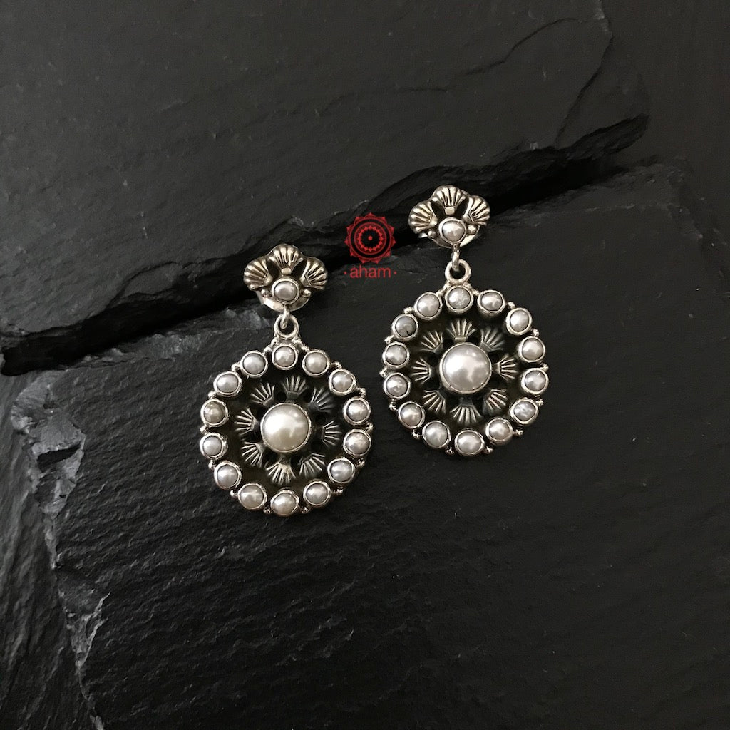 Handcrafted Silver Studs with pearls