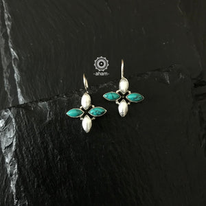 Turquoise and Pearl Summer love Earring