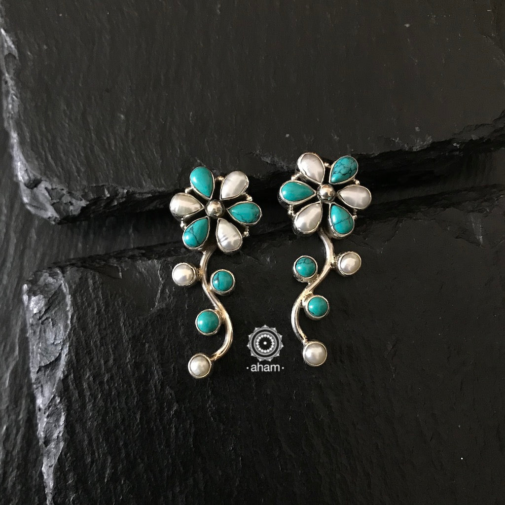 Turquoise and Blue Silver Summer love Earring