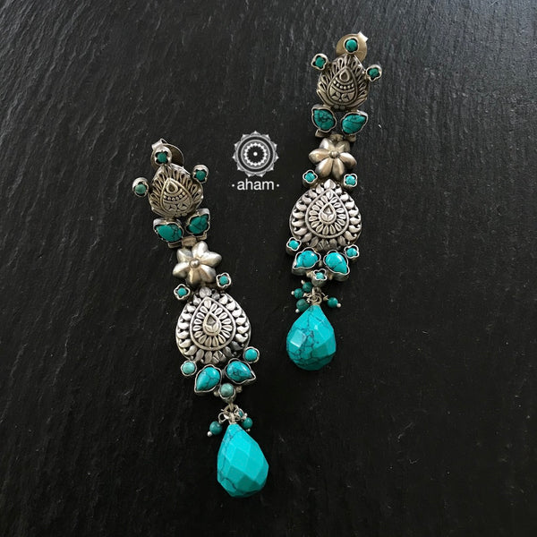 Silver Turquoise Love Drops