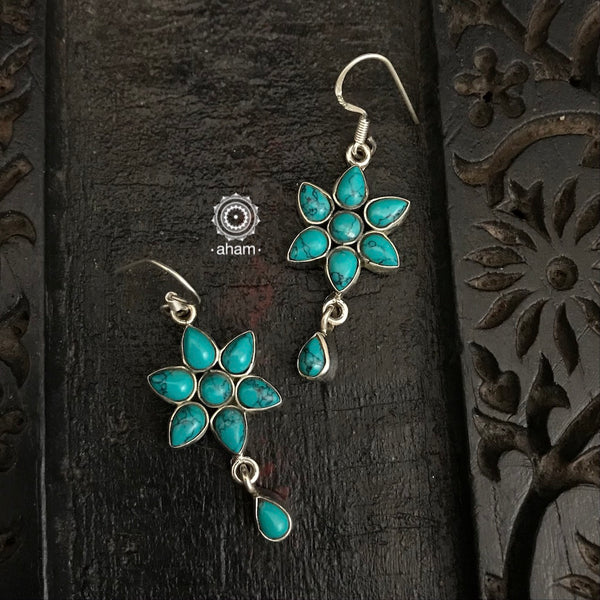 Turquoise Flower Summer Love Earring