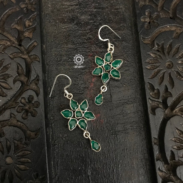 Green Flower Summer Love Earring