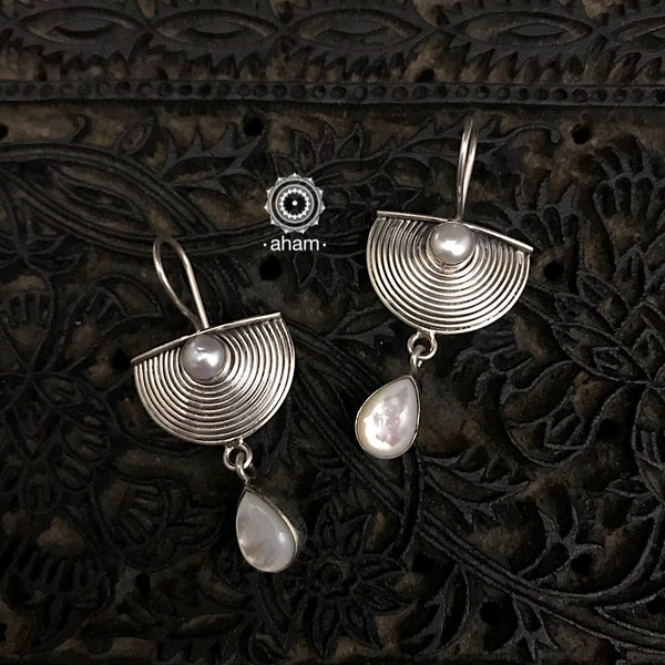Every daywear 92.5 sterling silver Earrings with pearls.