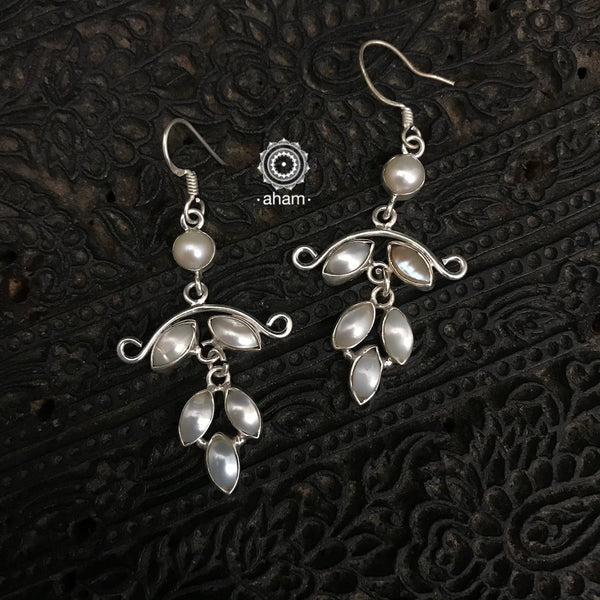 92.5 sterling silver Earrings with pearls.