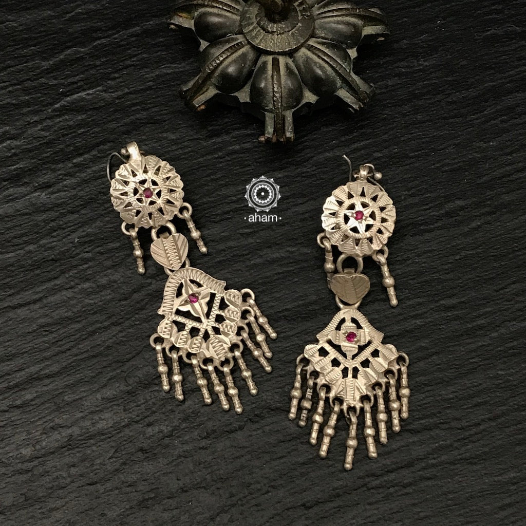 Vintage Silver Earrings.  Sourced from Kutch and Rajasthan.